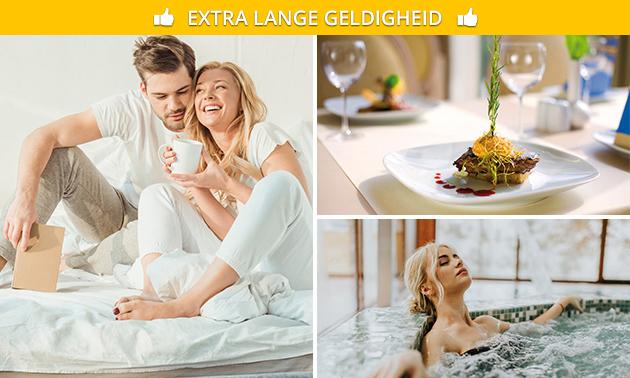 Overnachting + ontbijt + wellness voor 2 nabij Maastricht