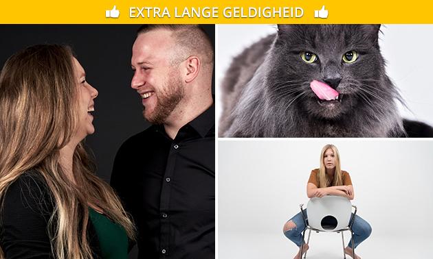 Fotoshoot (1 tot 8 personen) + digitale foto's