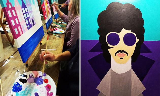 Workshop pop-art schilderen (2 à 3 uur) + koffie/thee
