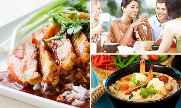 Chinese rijsttafel + aperitief + koffie/thee
