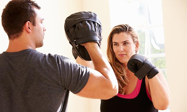 8 lessen boksen of (fitness)kickboksen
