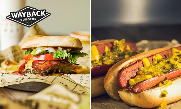Burger- of hotdogmenu bij Wayback Burgers