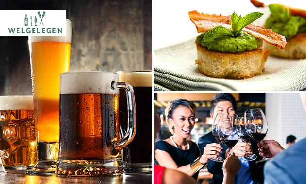 Bier- of wijnproeverij met hapjes bij Welgelegen