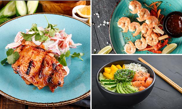 Thuisbezorgd of afhalen: tapasdiner met 12 gerechten