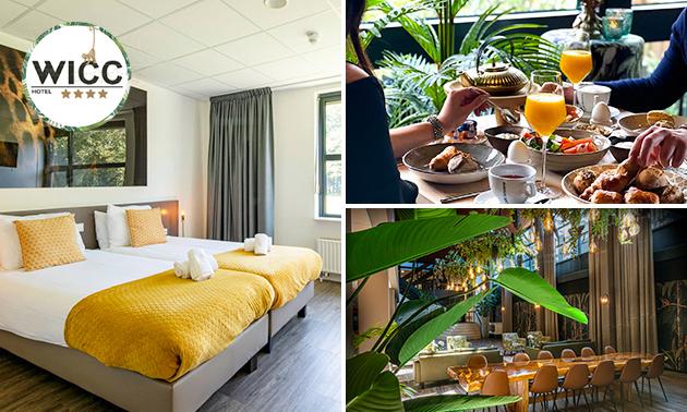 Overnachting voor 2 + drankje of ontbijt bij Hotel WICC