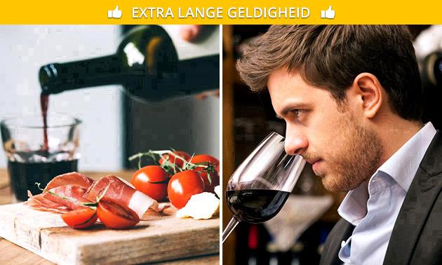 Wijnproeverij + hapjes voor 1 tot 10 personen