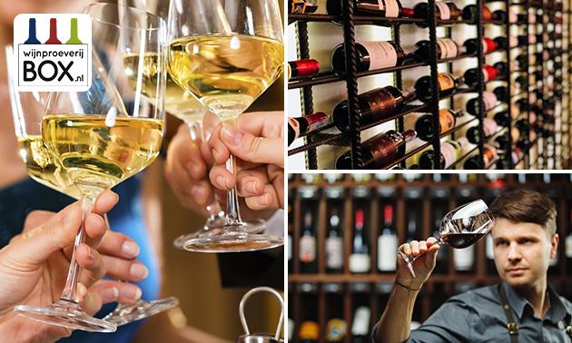Thuisbezorgd of afhalen: mini-wijnproeverij (2-4 personen)