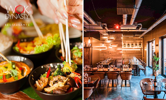 All-You-Can-Eat + cocktail + koffie/thee bij Wok Dynasty