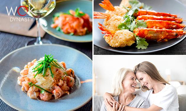 Afhalen: moederdagbox met 3-gangen shared dining