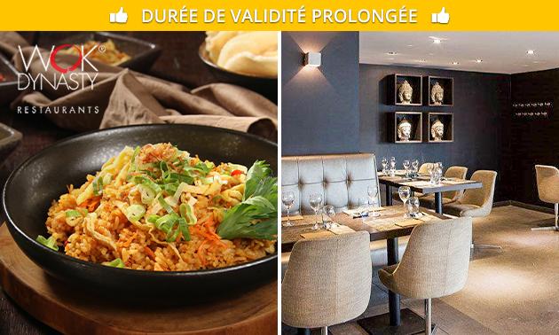 À emporter : menu en 3 services de Wok Dynasty