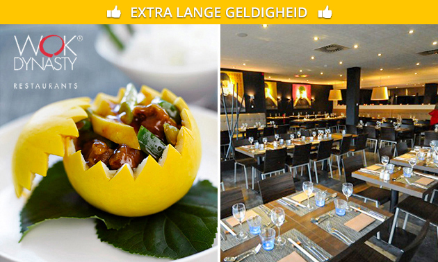 All-You-Can-Eat + bubbels + koffie/thee bij Wok Dynasty