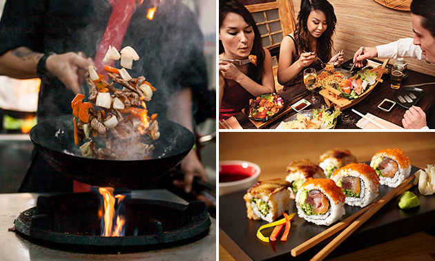 All-You-Can-Eat wokbuffet + koffie/thee of aperitief