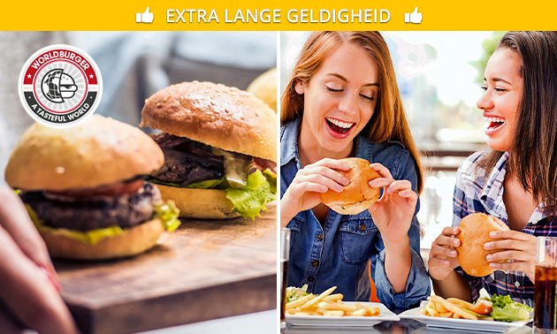 Afhalen: burger + friet + salade bij WorldBurger