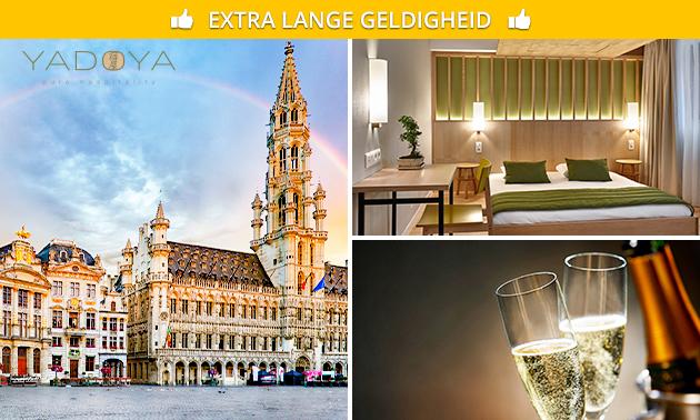 Overnachting + cava voor 2 in Brussel