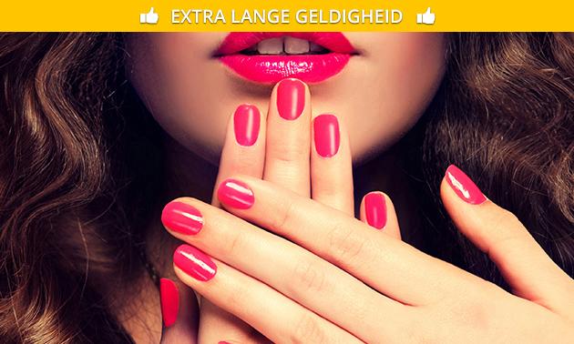 Manicurebehandeling + gellak (90 min)