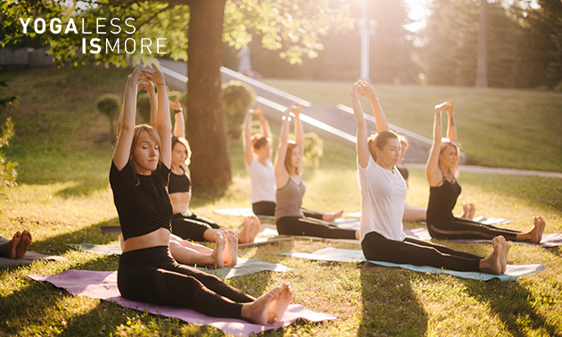 4 yogalessen voor buiten of binnen (60 min)