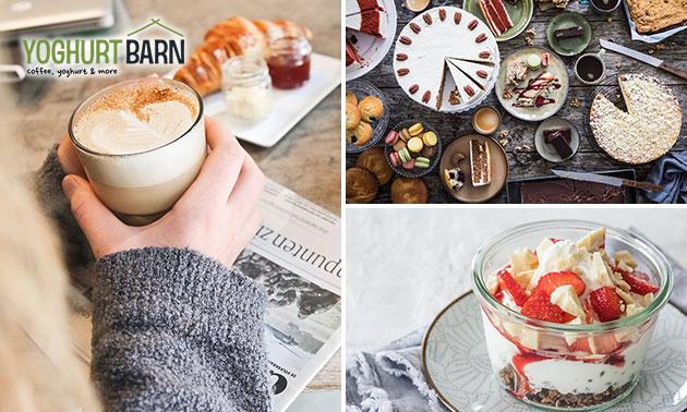 Ontbijt + drankje bij Yoghurt Barn in hartje Leiden