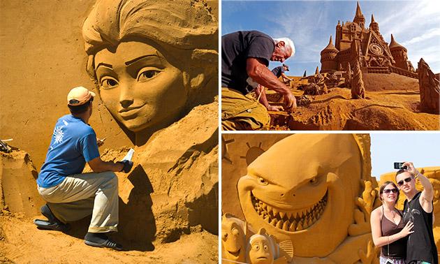 Entree voor het Zandsculpturenfestival in Oostende