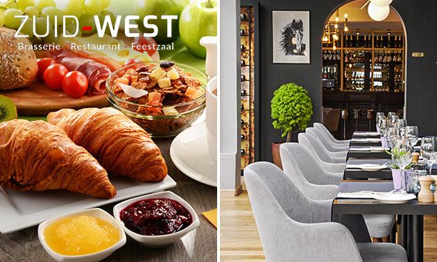 Luxe ontbijt + glaasje cava bij Zuid-West