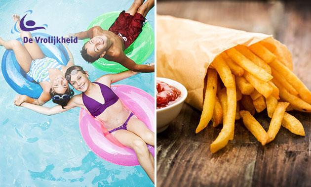 Entree Zwembad de Vrolijkheid + friet + saus